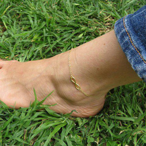 Latest Hollow Out Infinity Foot Leg Anklet - GOLDEN  Mobile