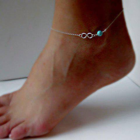 New 8 Shaped Fake Turquoise Bead Anklet