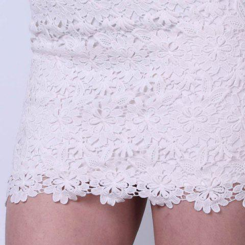 Outfits Bodycon Lace Mini Skirt - S WHITE Mobile