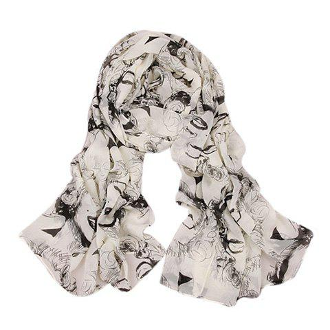Cheap Chic Figure Pattern Embellished Scarf For Women