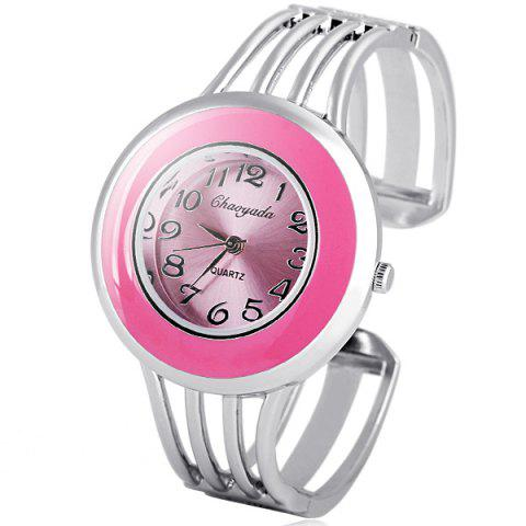 Latest Water Resistant Stylish Quartz Watch with Analog Indicate Steel Watchband for Women