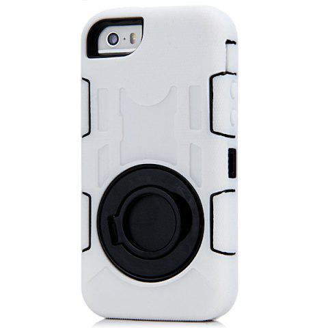 Buy Anti - Shock Anti - Dust Anti - Splash Plastic and TPU Case with Circle Stand for iPhone 5 5S 5C