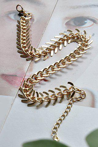 Unique Exquisite Simple Design Fishbone Pattern Anklet