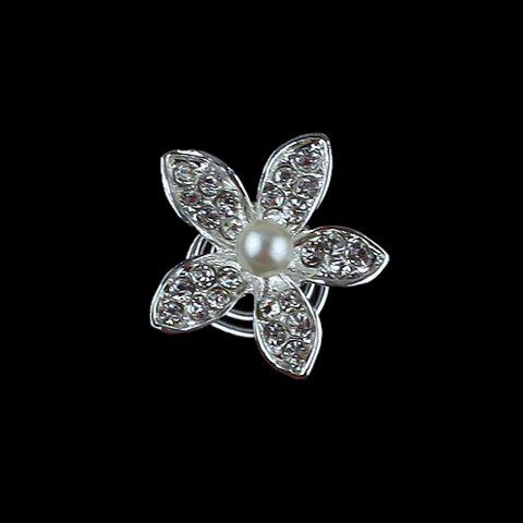 Buy Cute Rhinestone Flower Hairpin For Bride - AS THE PICTURE  Mobile