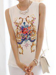 Grace Scoop Neck Printed Women's Tank Top
