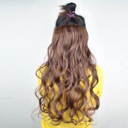 Stylish Long Wavy Fluffy Light Brown High Temperature Fiber Women's Hair Extension