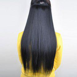 Pretty Black Overproof Long Straight High Temperature Fiber Women's Hair Extension - BLACK