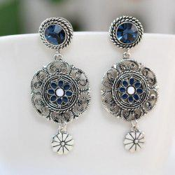 Fake Crystal Flower Drop Earrings