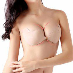 Seamless Backless Strapless Push Up Silicone Bra - COMPLEXION