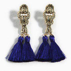 Pair of Exaggerated Tassels Alloy Drop Earrings For Women