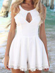 Womens Fashion Cut Out Lace Playsuit Romper -