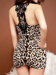 Ruched Mini Leopard Night Club Dress