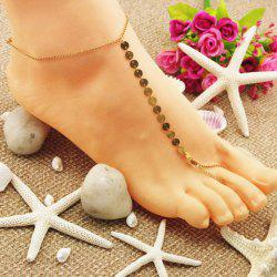 Colorful Paillette Decorated Beach Anklets - GOLDEN
