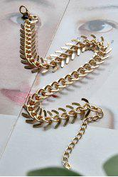 Exquisite Simple Design Fishbone Pattern Anklet - GOLDEN
