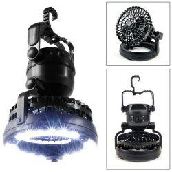 Creative 18 LEDs Tent Light Outdoor Camping with Air Fan -
