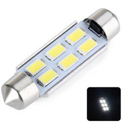 43MM Double Pointed 3W 6-LED SMD 5730 LED Car Light White Light Reading Light - DC12V - WHITE