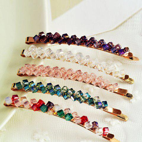 One Piece of Chic Rhinestone Colored Hairpin For WomenACCESSORIES<br><br>Color: COLOR ASSORTED; Headwear Type: Hairpins; Group: Adult; Gender: For Women; Style: Fashion; Pattern Type: Others; Weight: 0.05KG; Package Contents: 1 x Hairpin(One Piece);