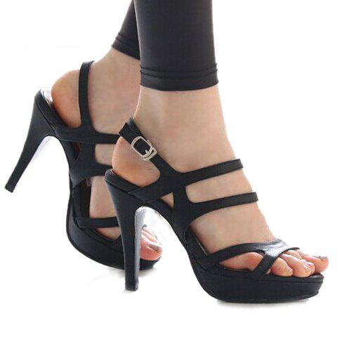 Store Party Stiletto and Solid Color Design Women's Sandals