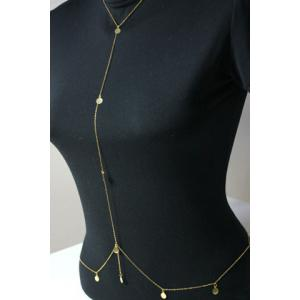 Characteristic Round Paillette Pendant Body Chain For Women -