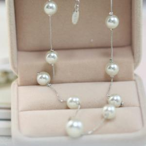Sweet Faux Pearl Embellished Necklace For Women -