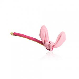 One Piece of Cute Rabbit Ear Solid Color Hairpin For Women -