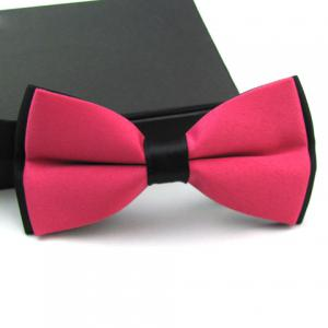 Casual Color Blocked Bow Tie For Men -