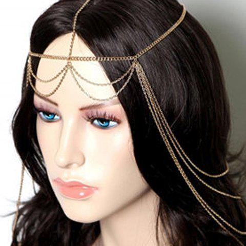 Online Exaggerated Solid Color Multi-Layered Tassels Hairband For Women
