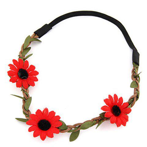 Trendy Cute Sun Flower Hairband For Women - COLOR ASSORTED  Mobile