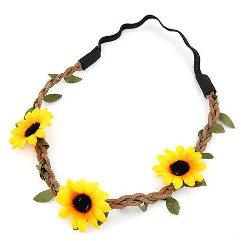 Affordable Cute Sun Flower Hairband For Women - COLOR ASSORTED  Mobile