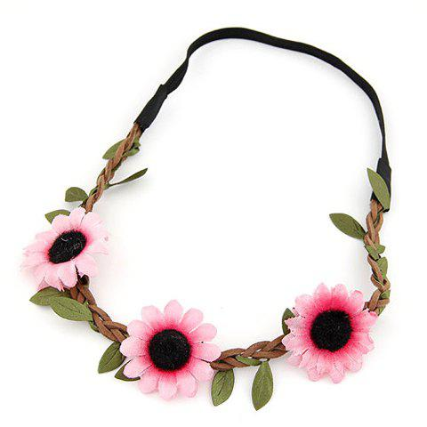 Hot Cute Sun Flower Hairband For Women - COLOR ASSORTED  Mobile