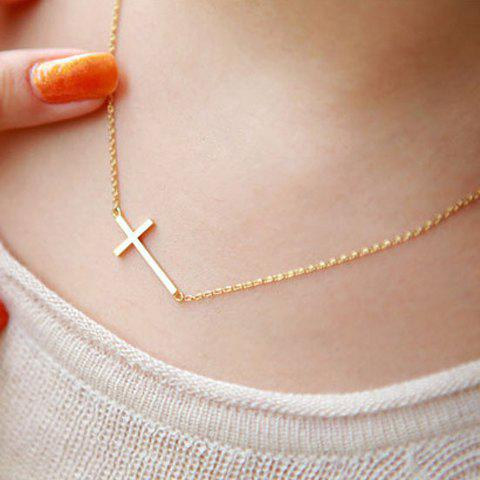 Outfit Fashion Simple Design Cross Pendant Necklace For Women