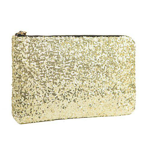 Affordable New Fashion Style Women's Sparkle Spangle Clutch Evening Bag - GOLDEN  Mobile