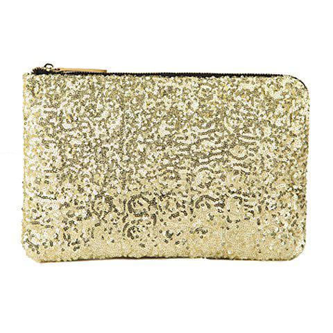 Discount New Fashion Style Women's Sparkle Spangle Clutch Evening Bag - GOLDEN  Mobile