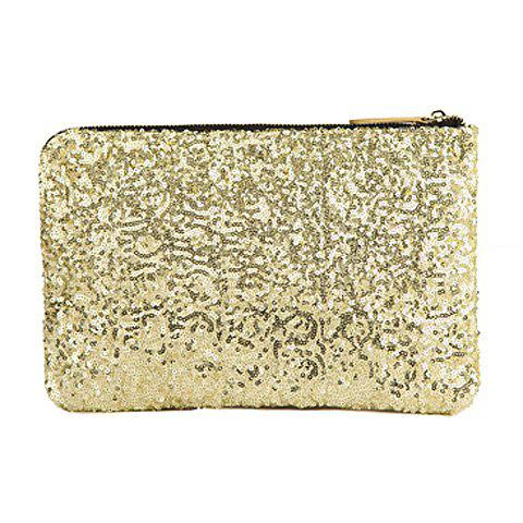 Sale New Fashion Style Women's Sparkle Spangle Clutch Evening Bag - GOLDEN  Mobile