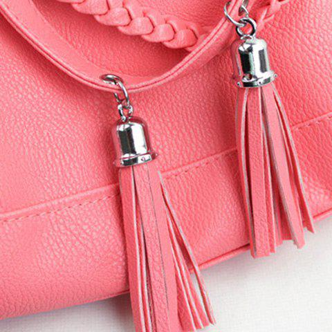 Shop Casual Tassels and Solid Color Design Women's Shoulder Bag - WATERMELON RED  Mobile