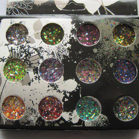 Best One Box New 12 Color Chic Mixed Glitter Round Sequins DIY Nail Art Decoration - AS THE PICTURE  Mobile