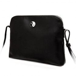 Preppy Style Solid Color and PU Leather Design Women's Crossbody Bag -