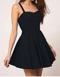 Sexy Sweetheart Neck Solid Color Backless Women's Dress -