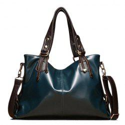 Fashionable Color Block and Zip Design Women's Shoulder Bag -