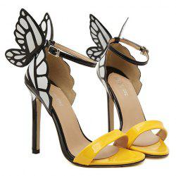Trendy Butterfly Wings and Color Block Design Women's Sandals -