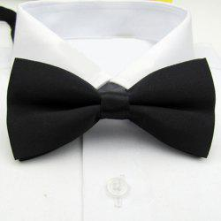 Pure Color Hot Sale Bow Tie For Men - BLACK