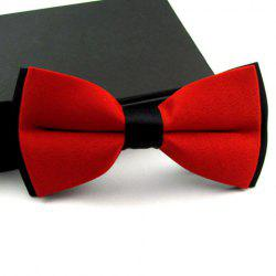 Casual Color Blocked Bow Tie For Men - COLOR ASSORTED