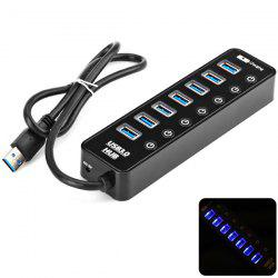 Multi-function 7 USB 3.0 Ports and 1 Charging Port Hub for Windows 2000 7 8 XP Vista Mac Linux -