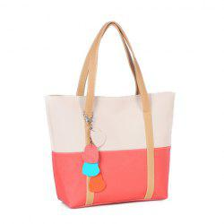 Fashion Cute Women Girl Candy Color Leisure Handbag Purse Shoulder Tote Bag - WHITE