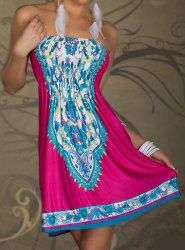 Smocked Strapless Homecoming Dress