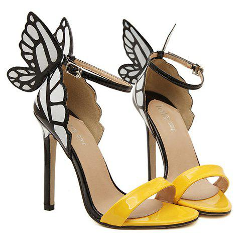 Hot Trendy Butterfly Wings and Color Block Design Women's Sandals