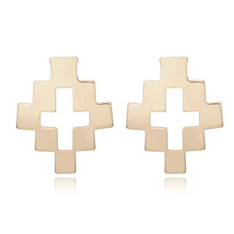 Best Pair of Chic Hollow Cross Stud Earrings For Women