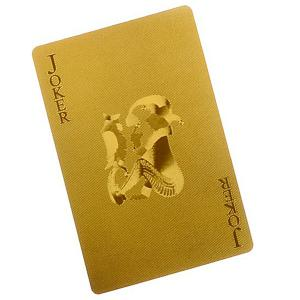 Luxury 24K Gold Foil Poker Playing Cards Deck Carta de Baralho with Box Good Gift -