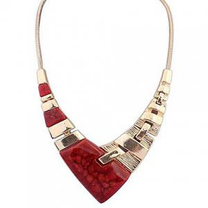 Punk Irregular V Pendant Necklace For Women -