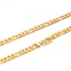 Chic Link Gold Necklace For Men - AS THE PICTURE